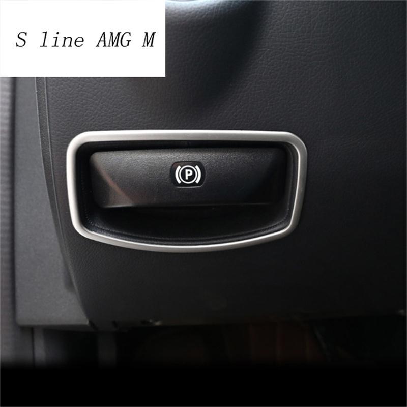 [해외]자동차 스타일링 풋 브레이크 릴리스 스위치 장식 프레임 메르세데스 벤츠 E 클래스 용 트림 스티커 W212 C 클래스 W204 액세서리/Car styling The foot brake release switch decoration frame Trim Sticke
