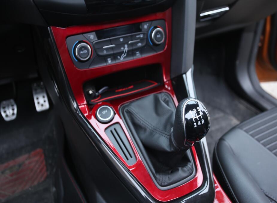 [해외]RED PAINTED CARBON FIBER 포드 포커스 용 내부 기어 패널 개량 용 스티커 Mk3 Mk4 2012-2016 2017 2018/RED PAINTED CARBON FIBER Car Inner Gear Panel Modification Trim St