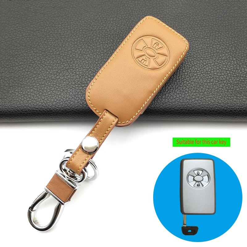 [해외]자동차 100 % 가죽 원격 제어 자동차 키 케이스 커버 도요타 Rav4 Yaris 2011 / For Toyota RAV4 Vitz Ractis 2 버튼 스마트/Car 100% Leather Remote Control Car Key Case Cover For