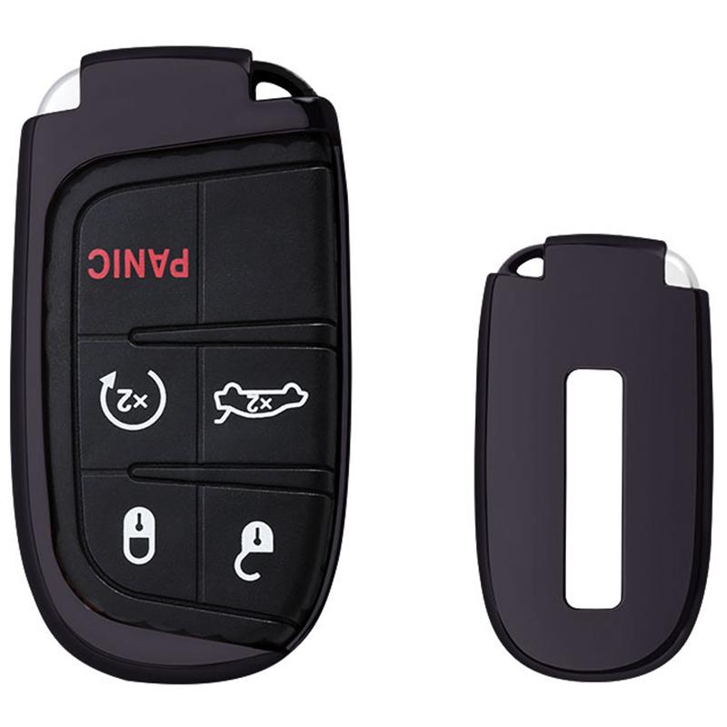 [해외]새로운 1x 먼 스마트 TPU 중요한 FOB 케이스 포탄 커버 튼튼한 차 열쇠는 지프 Chrysler Dodge Mayitr를중요한 홀더를 보호한다/New 1x Remote Smart TPU Key Fob Case Shell Cover Durable Car Ke