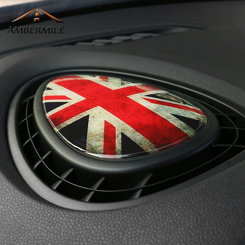 [해외]ABCERMILE 3 차원 크리스탈 에폭시 자동차 콘솔 미니 쿠퍼 JCW 하나 F56 F55 F54 액세서리에 대 한 공기 배출구 커버 스티커 자동차 스타일링/AMBERMILE 3D Crystal Epoxy Car Console Air Outlet Vent Co