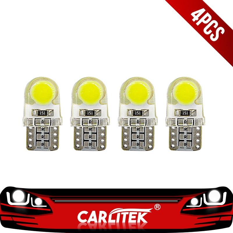 [해외]CARLitek 4pcs W5W 194 168 Interior Lighting Car Lamp Signal Light Clearance Brake Lights Reading Led 1W 12V T10 Led Bulbs /CARLitek 4pcs W5W 194 1