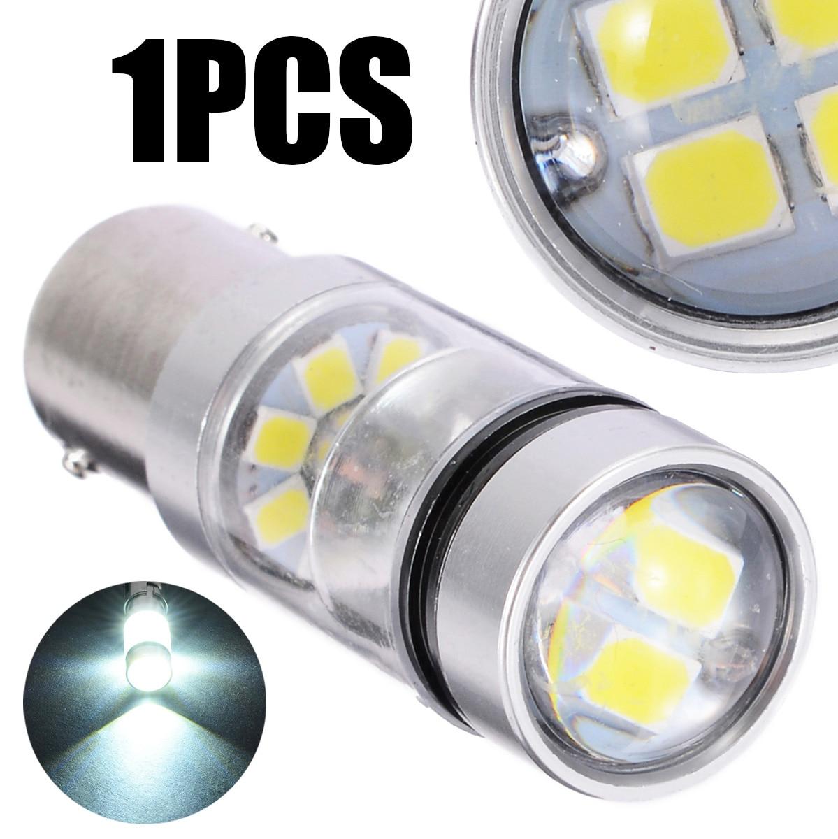 1pc 100W 1156 S25 P21W BA15S LED 헤드 라이트 백업 램프 전구 화이트 360