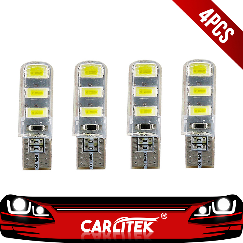 [해외]CARLitek 4pcs 12V T10 W5W 194 3W Car Led Bulbs Turn Signal Lamp Plate Reading Lights Car Styling Auto Interior Light/CARLitek 4pcs 12V T10 W5W 194