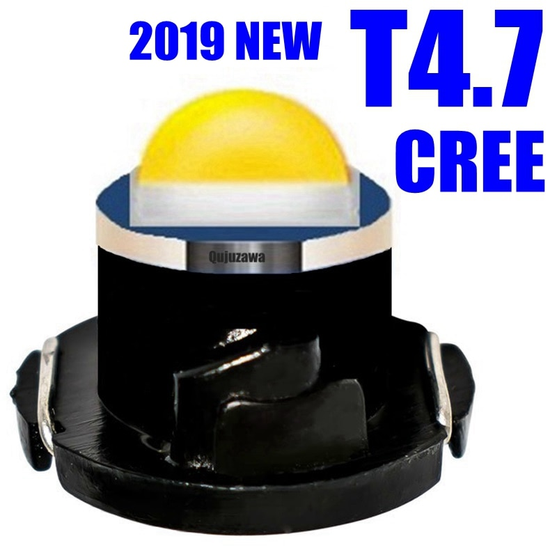 10pcs 새로운 t4.7 크리 어 칩 led 네오 웨지 대시 보드 계기판 라이트 카 패널 게이지 speedo 대시 벌브 블루 레드 그린 화이트