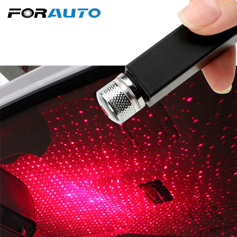 [해외]FORAUTO LED Car Roof Star Night Light Projector Atmosphere Galaxy Lamp USB Decorative Lamp Adjustable Multiple Lighting Effects/FORAUTO LED Car Ro