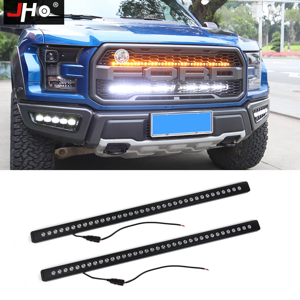 [해외]JHO 40 inches Front Grille LED Light Bars Kit For Ford F-150 Raptor 2017 2018 Pickup Truck Styling Accessories White/Amber/JHO 40 inches Front Gri