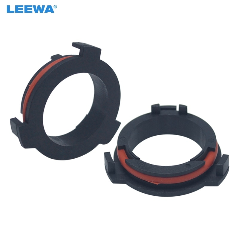 [해외]FEELDO 2pcs H7 LED Headlight Bulb Holder Adapters For OPEL Astra G Honda CR-V Mazda Car Styling LED light Clip Retainer Base/FEELDO 2pcs H7 LED He
