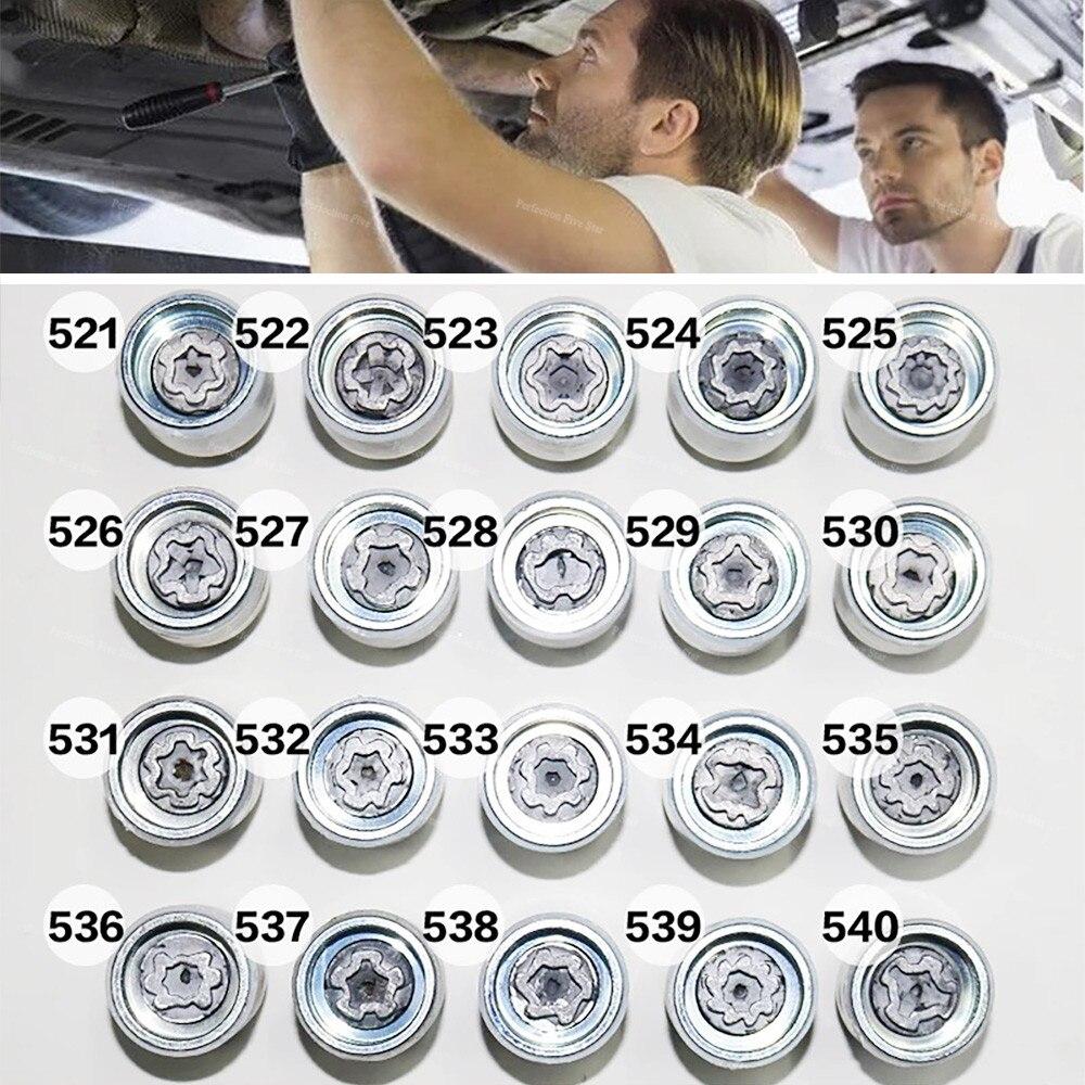 [해외]1Pcs Tire anti-theft screw disassembly tool key sleeve For Volkswagen Polo Golf Jetta Passat CC Tiguan Touran Bora Phaeton 5/1Pcs Tire anti-theft