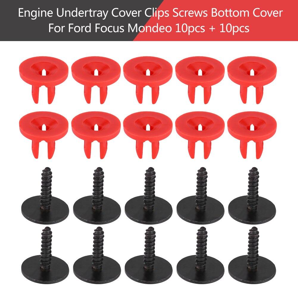 [해외]20pcs Engine Undertray Cover Clips Screws Bottom Cover Shield Guard for Ford Focus MK2 MK3 Mondeo MK3 MK4 models/20pcs Engine Undertray Cover Clip