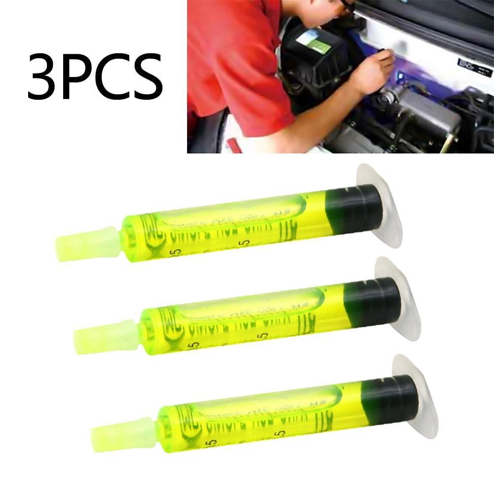 [해외]3 개/대 고농도 r134a r410 r12 에어컨 a/c 시스템 누출 테스트 에이전트 자동차 냉동 추적기 오일 2.5 ml 각/3 개/대 고농도 r134a r410 r12 에어컨 a/c 시스템 누출 테스트 에이전트 자동차 냉동 추적기 오일 2