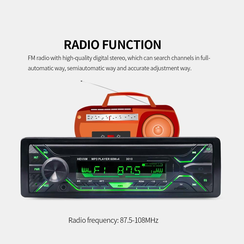 DHL 또는 페덱스에 의해 50pcs 자동차 라디오 스테레오 플레이어 블루투스 전화 AUX-IN MP3 FM/USB/1 Din/원격 제어 12V 자동차 오디오 자동 3010