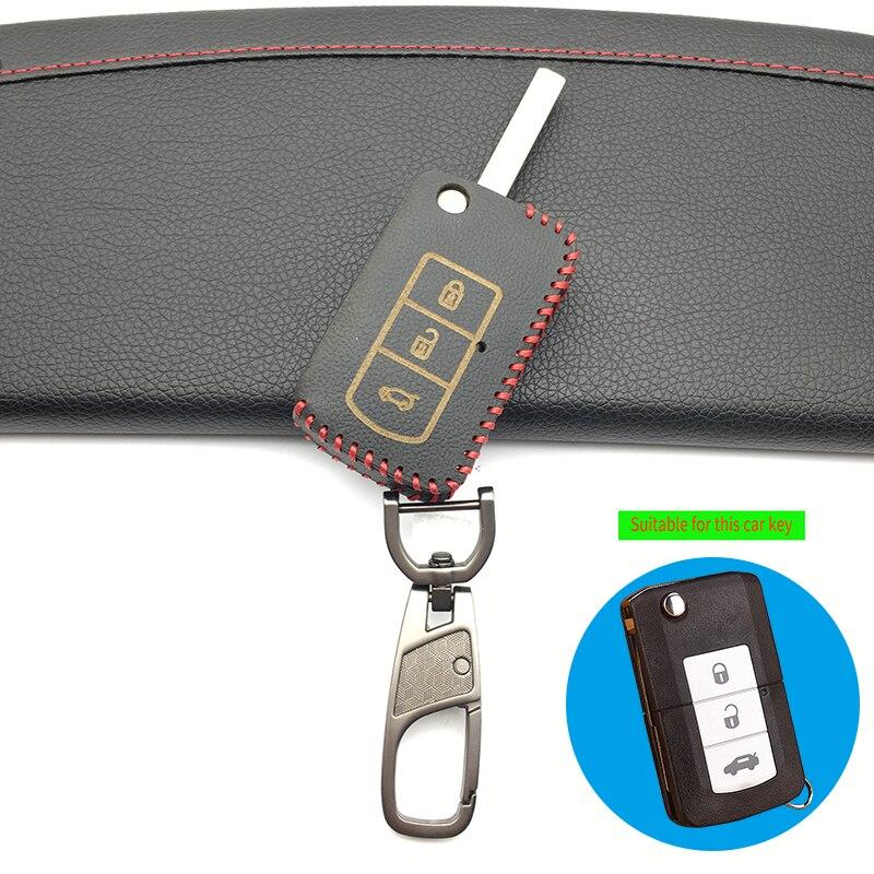 미쓰비시 Galant 3 버튼에 대 한 고품질 가죽 자동차 키 커버 케이스 자동차 홀더 케이스 접는 자동차 키 보호 쉘