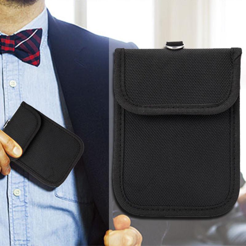 자동차 키 신호 차단기 케이스 패러데이 케이지 Fob 파우치 열쇠가없는 RFID 차단 가방 13.5*9cm 자동차 키 케이스 키 커버 수호자 블랙