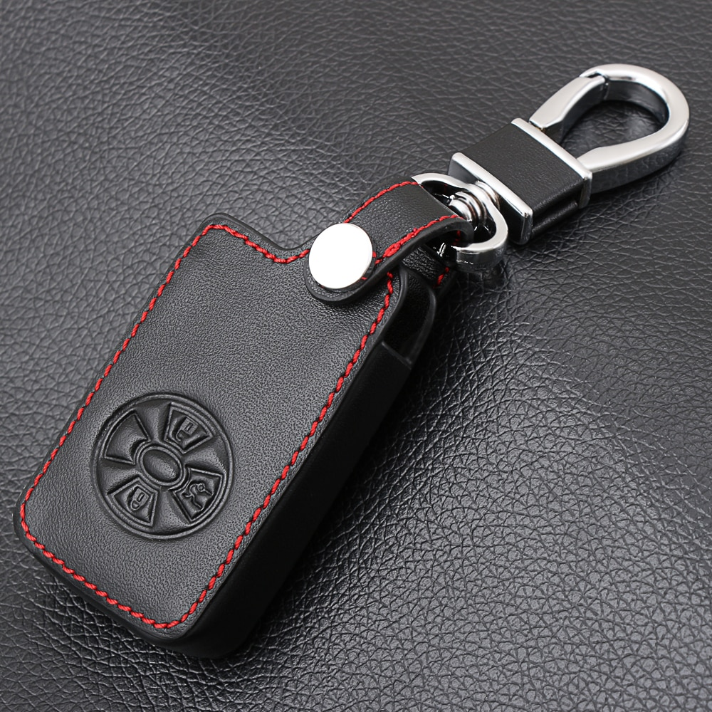 [해외]3 Buttons Car Smart Key Cover Case Holder For Toyota RAV4 2009 2011 RAV 4 Yaris 2011 Keys Keychain Leather CaseKey Ring/3 Buttons Car Smart Key Co