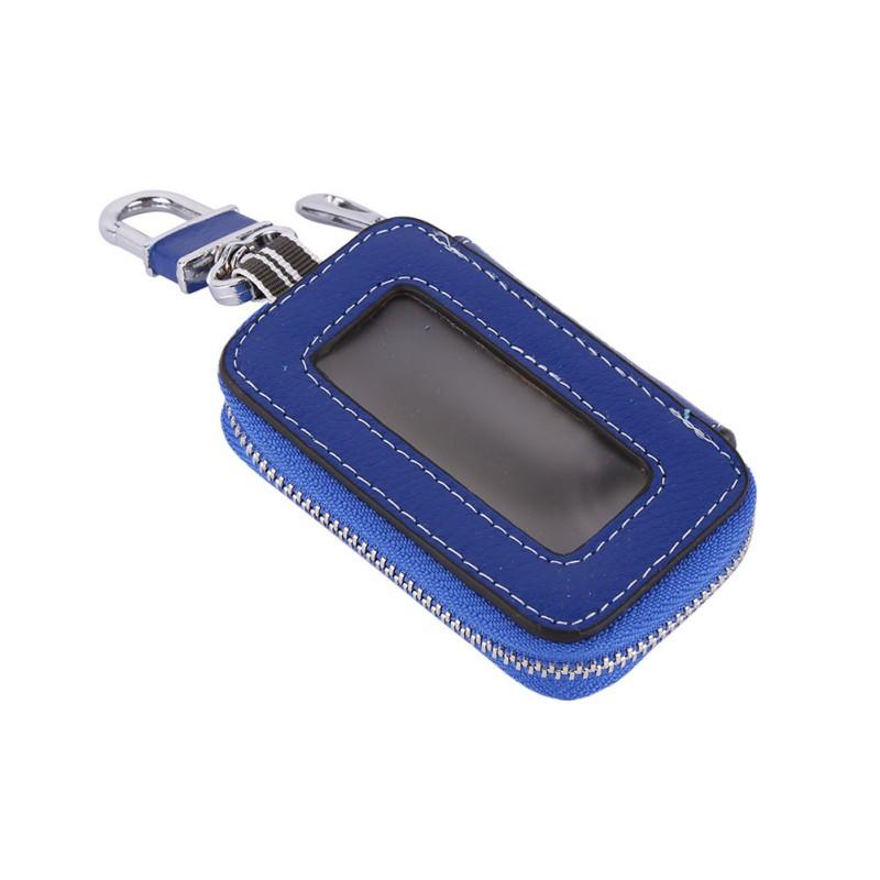 키 홀더 중간 볼 수있는 지갑 가죽 남여 자동차 키 지갑 주최자 가방 자동차 지퍼 키 홀더
