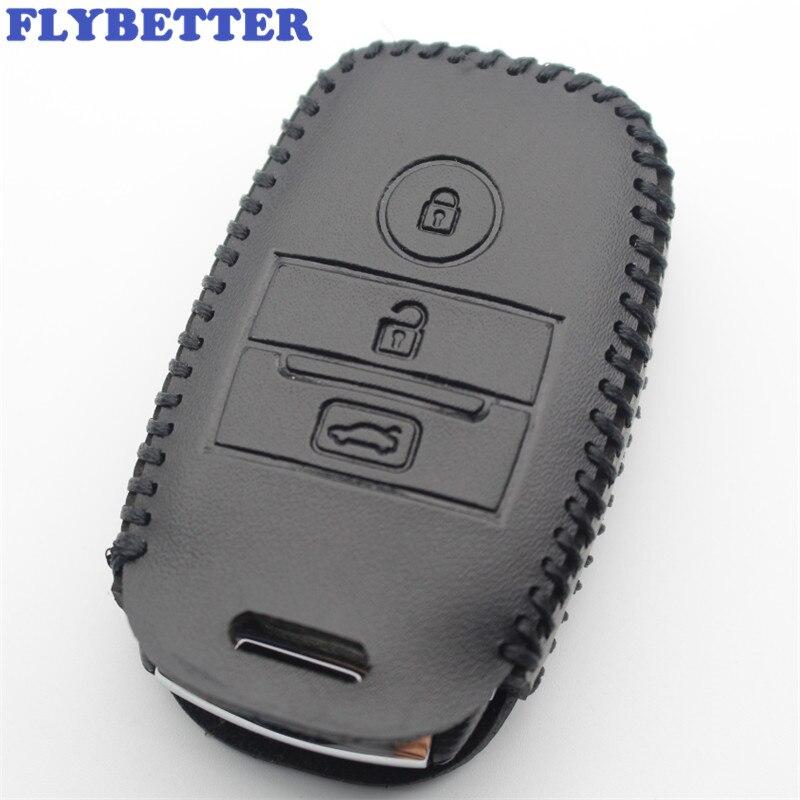 FLYBETTER 정품 가죽 키 케이스 커버 Kia KX3/KX5/K3S/RIO/Ceed/Cerato/Optima/K5/Sportage/Sorento 자동차 스타일링 (B) L1612