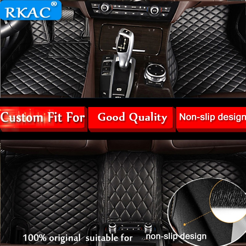 [해외]RKAC Leather Car floor mats for BMW 5 series E60 E61 F07 F10 F11 GT 518i 520i 523i 525i 528i 530i 535i 540i leather car carpets/RKAC Leather Car f