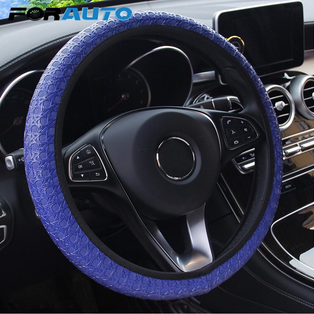 [해외]FORAUTP Car Steering Wheel Cover Auto Steering Covers Car-styling Diameter 38cm Universal Auto Decoration Car Accessories/FORAUTP Car Steering Whe