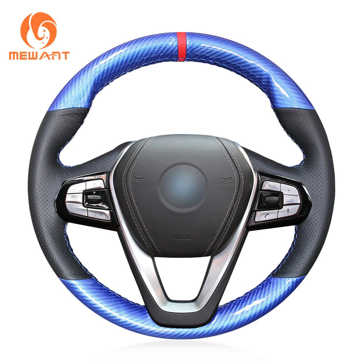 [해외]Steering Wheel Cover Wrap Around Sewing by Hand Black Leather Steering Cover for BMW G30 530i 540i 520d 530e G32 630i/Steering Wheel Cover Wrap Ar