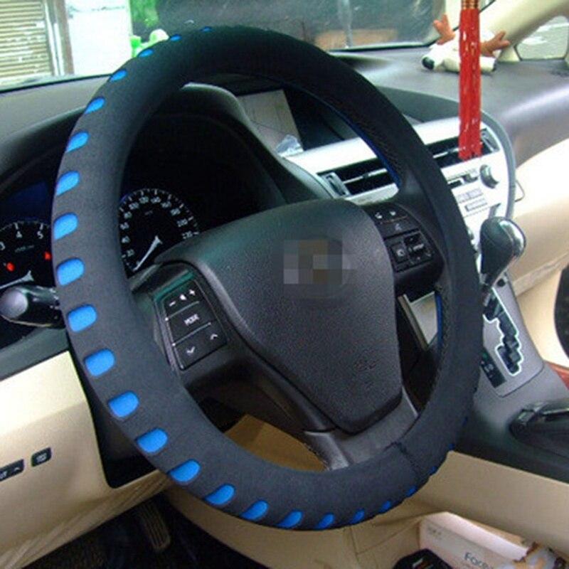 38 cm 유니버설 카 스티어링 휠 커버 eva 자동차 카 커버 대부분의 자동차 스타일링 안티 홀더 프로텍터 5 색