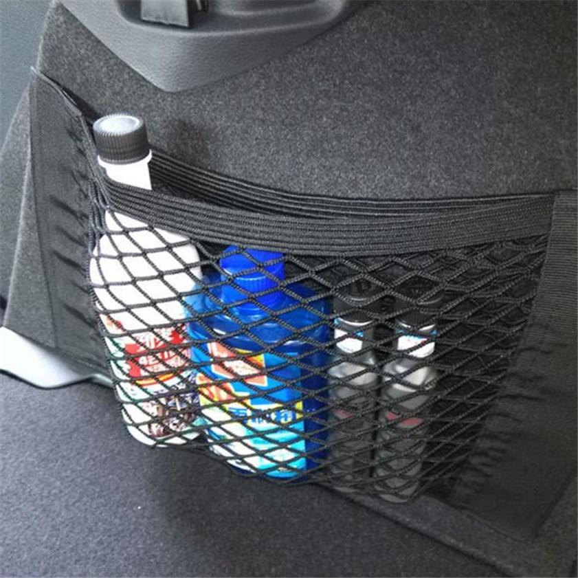 높은 품질 자동차 자동 후면 후면 트렁크 좌석 탄성 문자열 그물 메쉬 스토리지 가방 포켓 케이지