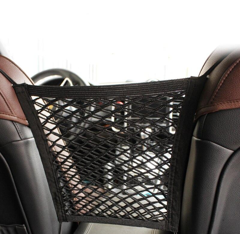 [해외]28x25cm universal car seat back storage mesh net bag for Toyota Camry Corolla RAV4 Yaris Highlander/Land Cruiser/PRADO Vios Vitz/28x25cm universal