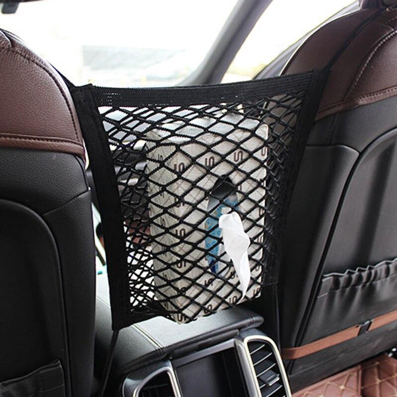 [해외]28x25cm universal car seat back storage mesh net bag for Hyundai ix35 iX45 iX25 i20 i30 Sonata,Verna,Solaris,Elantra,Accent,Vera/28x25cm universal