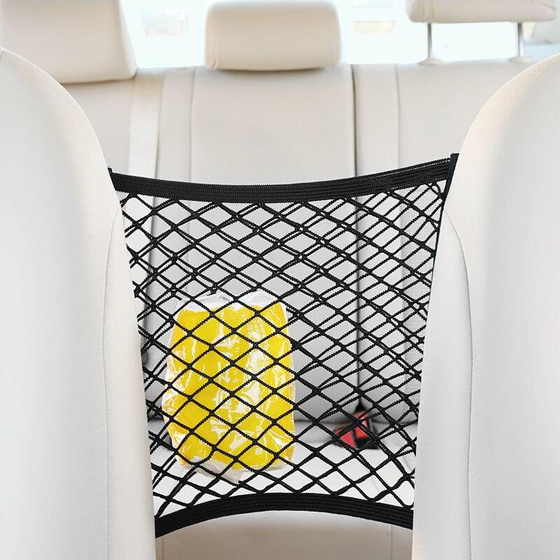 [해외]28x25cm universal car seat back storage mesh net bag for Honda CRV Accord Odeysey Crosstour FIT Jazz City Civic JADE Crider /28x25cm universal car