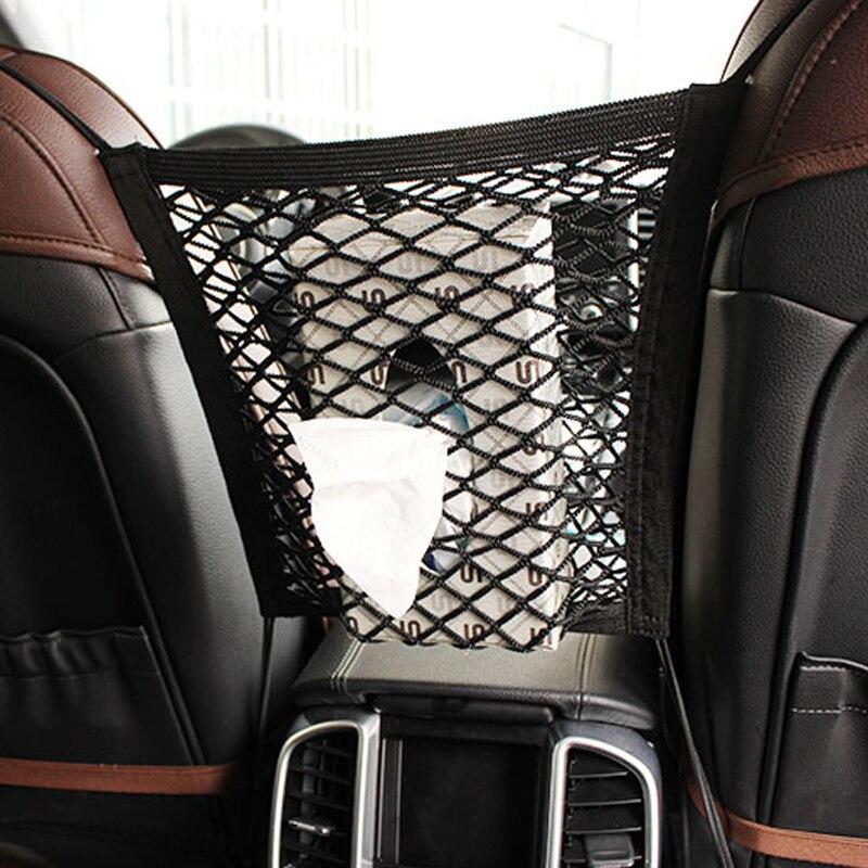 [해외]28x25cm universal car seat back storage mesh net bag for Buick Regal Lacrosse Excelle GT/XT/GL8/ENCORE/Enclaves/Envision/Park /28x25cm universal c