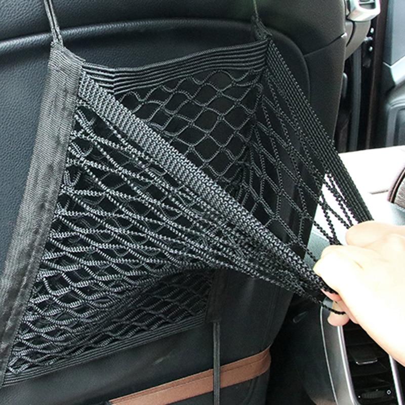 [해외]28x25cm universal car seat back storage mesh net bag for Infiniti FX-series Q-series QX-series Coupe EX37 EX25 JX35 EX35 G Class/28x25cm universal
