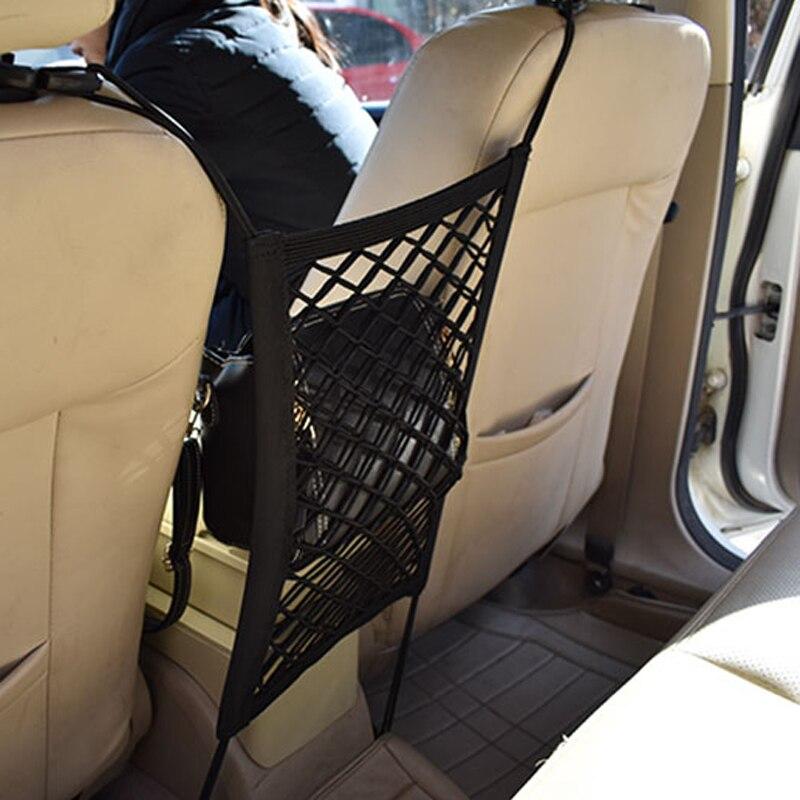 [해외]28x25cm universal car seat back storage mesh net bag for Suzuki SX4 SWIFT Alto Liane Grand Vitara Jimny/28x25cm universal car seat back storage me