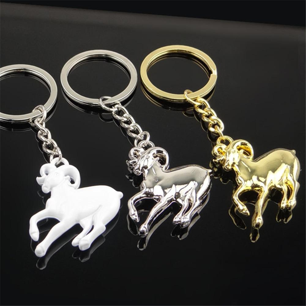 [해외]3D 금속 Anmal 양 키 체인 Keyring 자동차 키 체인 홀더 키 링 좌석 Leon Bmw E36 르노 혼다 시민 VW 골프 5 푸조/3D Metal Anmal Sheep Keychain Keyring Car Key Chain Holder Key Ring