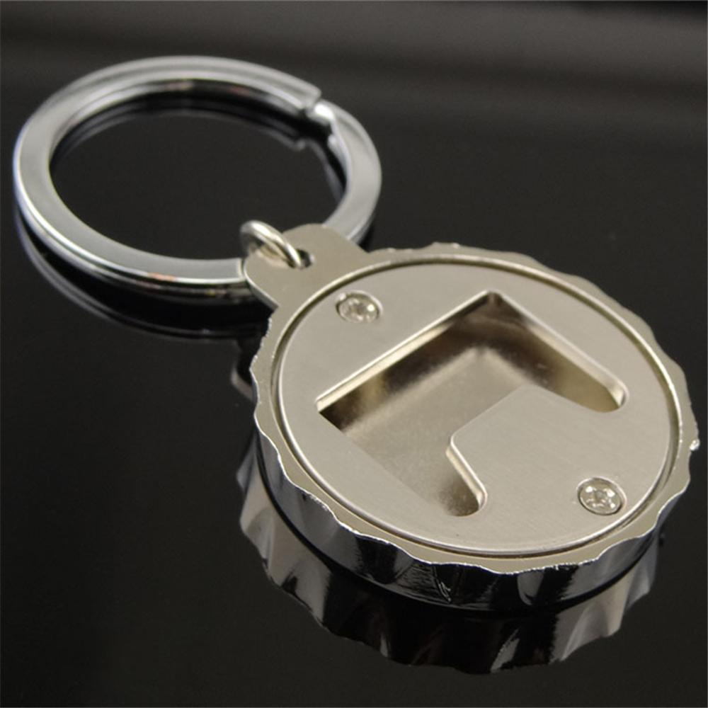 [해외]크리 에이 티브 서클 병 뚜껑 열쇠 고리 볼보 V40 포드 자동차 키 링 Mondeo Mk4 닛산 Qashqai J11 현대 솔라리스 키 체인/Creative Circle Bottle Cap Key Chain Car Key Ring For Volvo V40 Fo