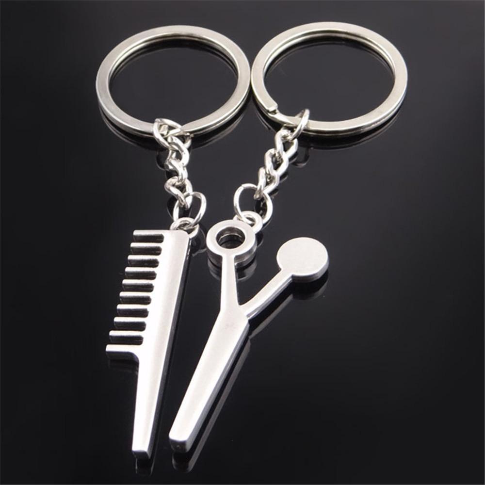 [해외]크리 에이 티브 빗 및가 위 모양의 자동차 키 체인 홀더 재미 있은 장난감 키 ford 레인저 opel 휘장 500 skoda 빠른 인피니티/Creative Comb And Scissor Shaped Car Key Chain Holder Funny Toy Key
