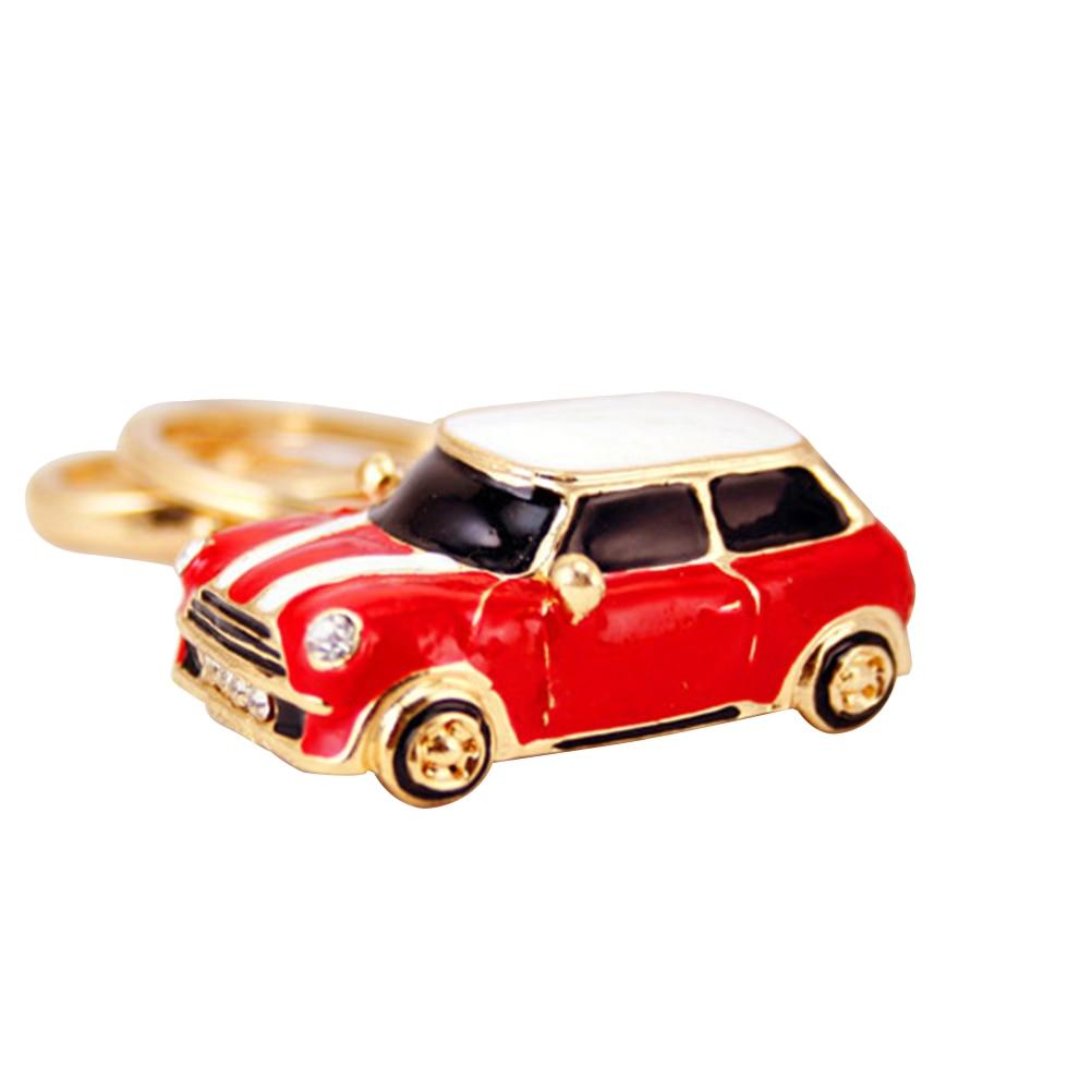 [해외]Crystal Rhinestone Metal Car Model Keychains Keyrings Women Handbag Charms Pendant (Red)/Crystal Rhinestone Metal Car Model Keychains Keyrings Wom