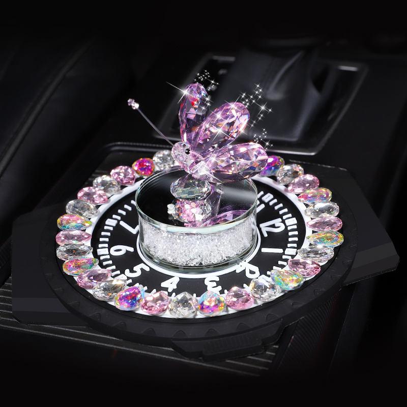 [해외]Romantic butterfly Crystal  modeling Perfume seat Car Home  Deodorizing Scent Air Freshener Fragrance cute Auto Liquid perfume/Romantic butterfly