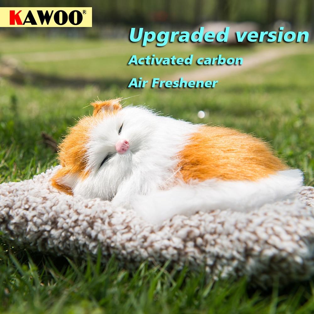 [해외]Car Ornament Auto Air Freshener styling Plush Activated Carbon Simulation Cute Lazy Sleeping Cats Car Dashboard Decor Decoration/Car Ornament Auto