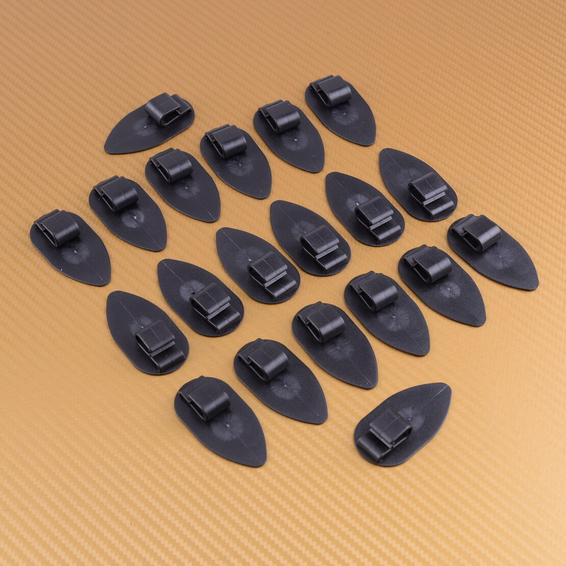 20 pcs 블랙 유니버설 플로어 트렁크 카펫 라이너 매트 리테이너 클립 슬라이딩 마운트
