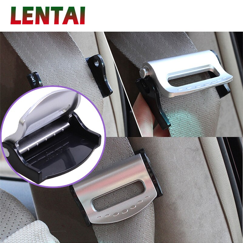 [해외]LENTAI 2Pcs Auto Car Safety Belt Clip Seat belt holder For Citroen C4 C5 Hyundai Solaris VW Polo T5 Ford Fiesta Fusion Mustang/LENTAI 2Pcs Auto Ca