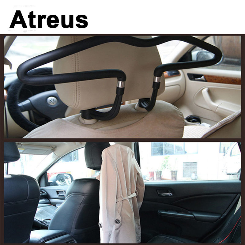 [해외]Atreus for VW 폴로 passat b5 b6 마즈다 3 6 cx-5 Toyota corolla 포드 포커스 2 3 Car Hanger Clothes Headrest Stainless Holder/Atreus For VW polo passat b5 b6