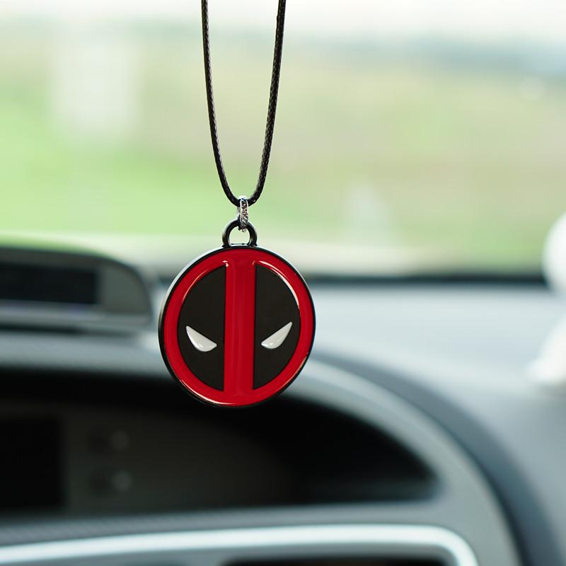 [해외]Car Charm Rear View Mirror Hanging Ornament For Deadpool Pendant Automobile Decoration  Interior Accessories Gifts/Car Charm Rear View Mirror Hang