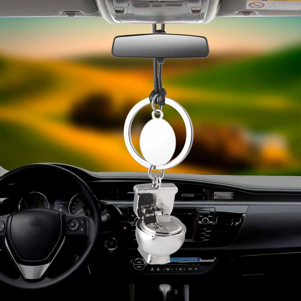 [해외]Car Pendant Closestool Ornaments Charms Rearview Mirror Decoration Hanging Auto Decor Cars Accessories Styling Love friend Gifts/Car Pendant Close