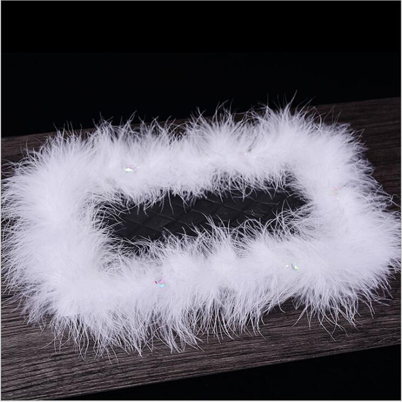 [해외]HI-END Car Ornaments Feather Non Slip Mat Car Dashboard Decoration Anti Skid Rubber Pad Big Fur Trim Mats 30cm*20cm/HI-END Car Ornaments Feather N