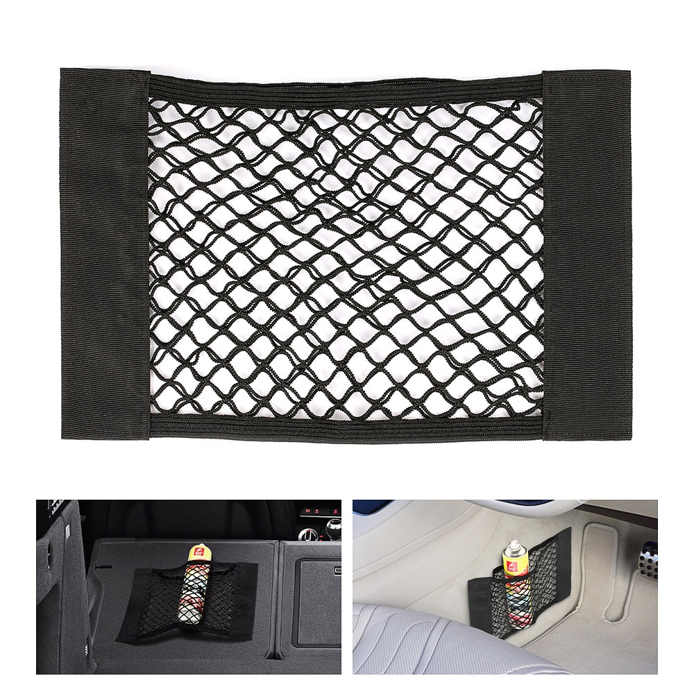[해외]Car Seat Side Back Storage Net Bag Phone Holder Pocket Organizer Stowing Tidying Mesh Net Bag Car Magic Sticking Holder/Car Seat Side Back Storage
