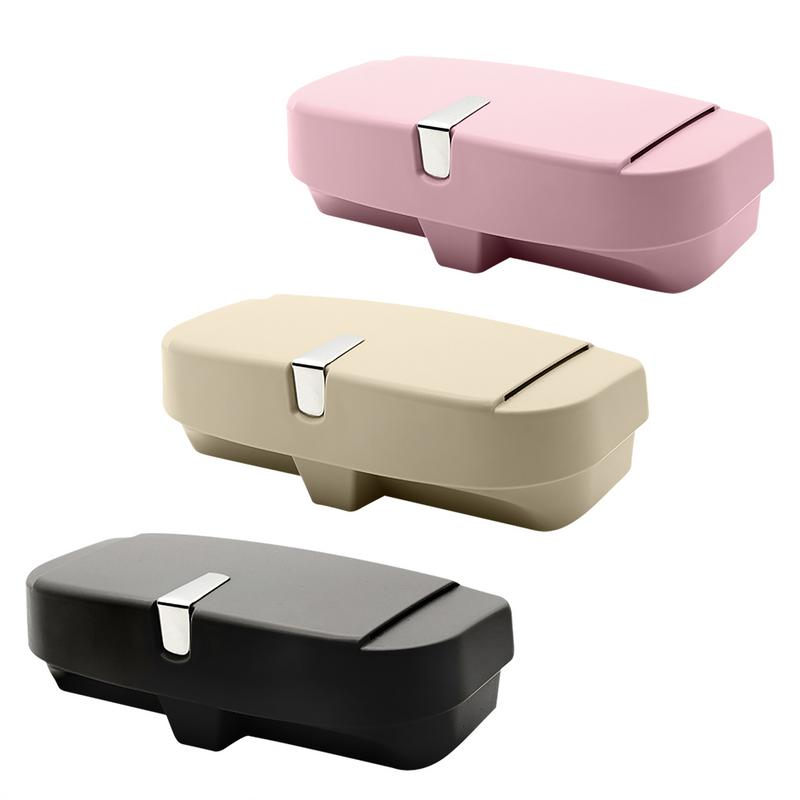[해외]Universal Car Sunshade Board Glasses Box Bills Bank Coin Card Clip Multifunctional Storage Box Sponge Pad Anti-scratch Practical/Universal Car Sun