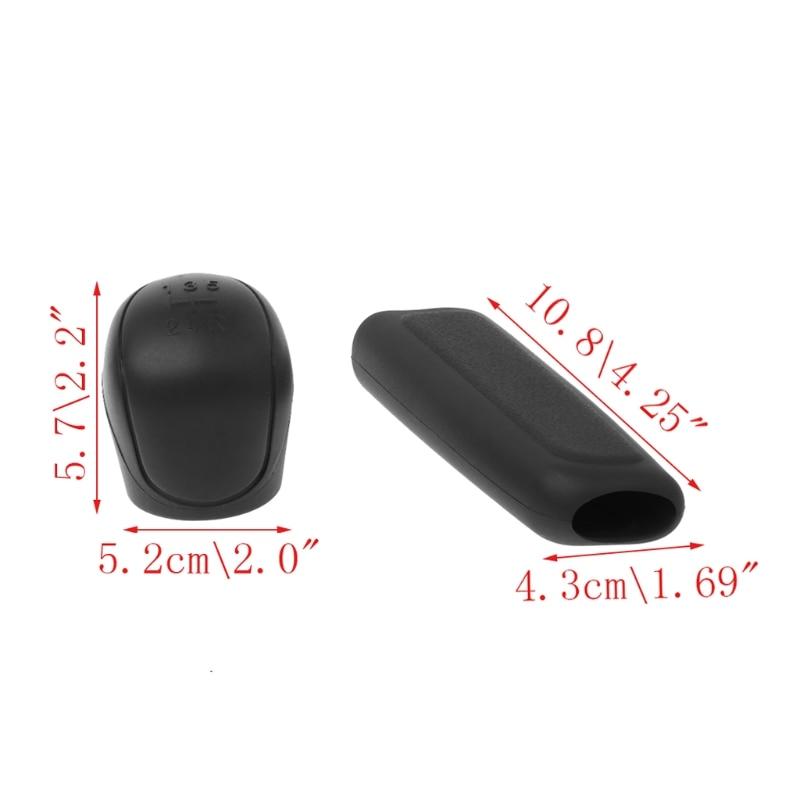[해외]1Pair Universal Car Silicone Gear Head Shift Knob Cover Gear Shift Collars Handbrake Grip Car Hand Brake Covers Case New/1Pair Universal Car Silic