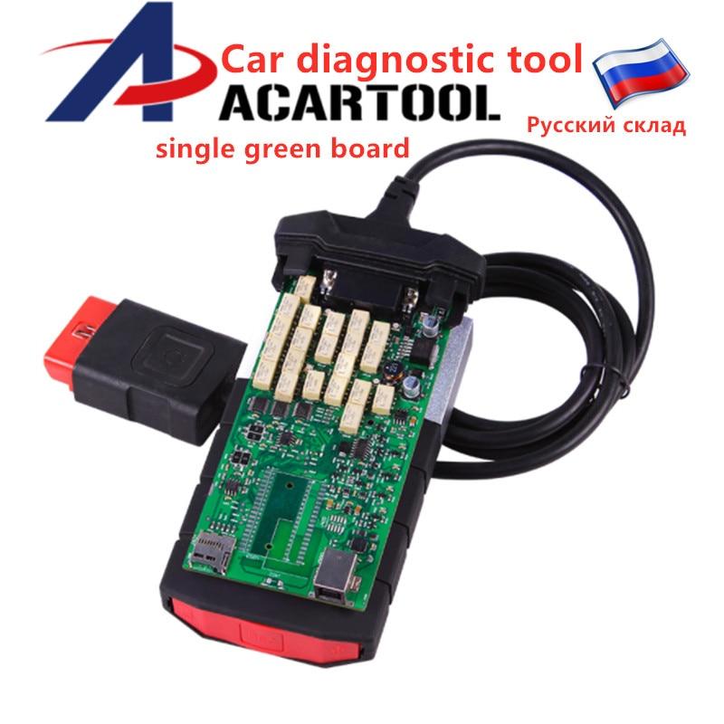 [해외]2019 OBD2 Car Diagnostic Tool Single Green PCB Board 2015 R3 2016 R1 Keygen Software for Cars and Trucks/2019 OBD2 Car Diagnostic Tool Single Gree