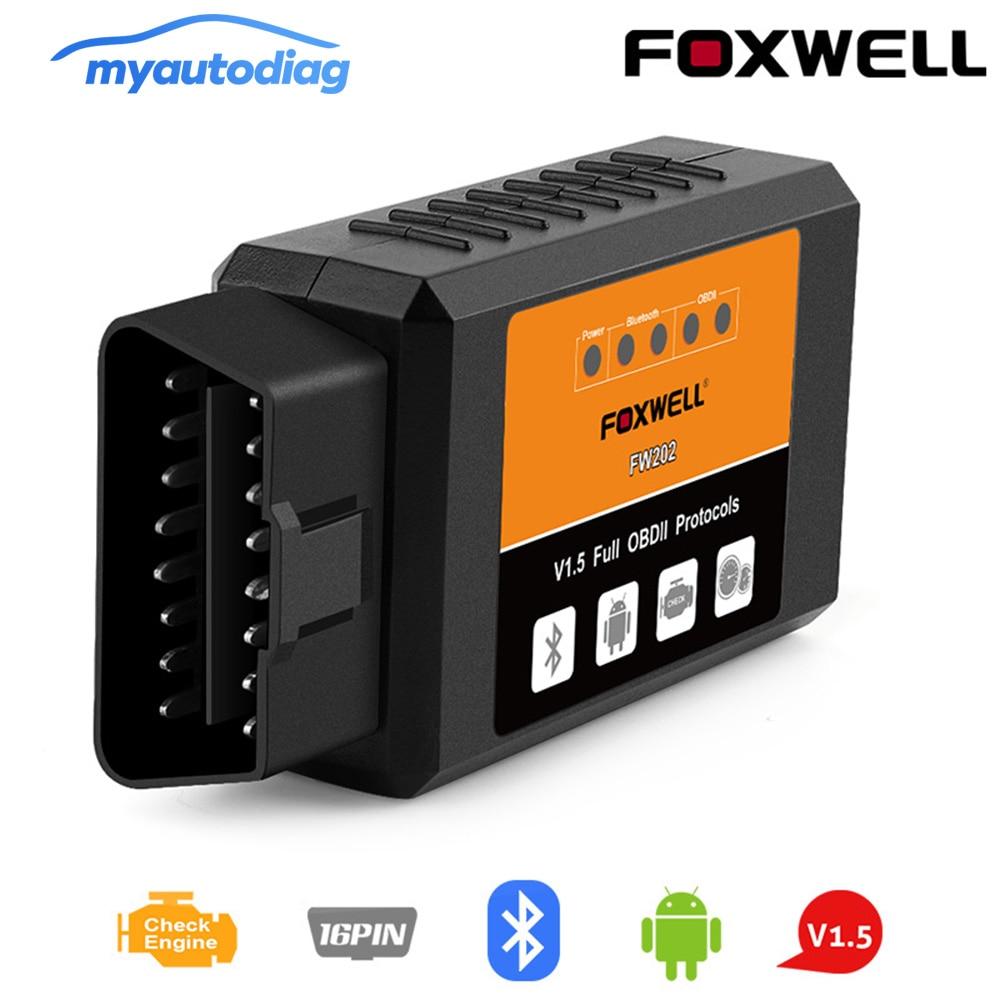 [해외]New FOXWELL FW202 OBD2 ELM327 Bluetooth V1.5 PIC18F25K80 ODB 2 Car Code Reader Scanner OBDII ODB2 ODB II Scan Tool ELM 327 V 1.5/New FOXWELL FW202
