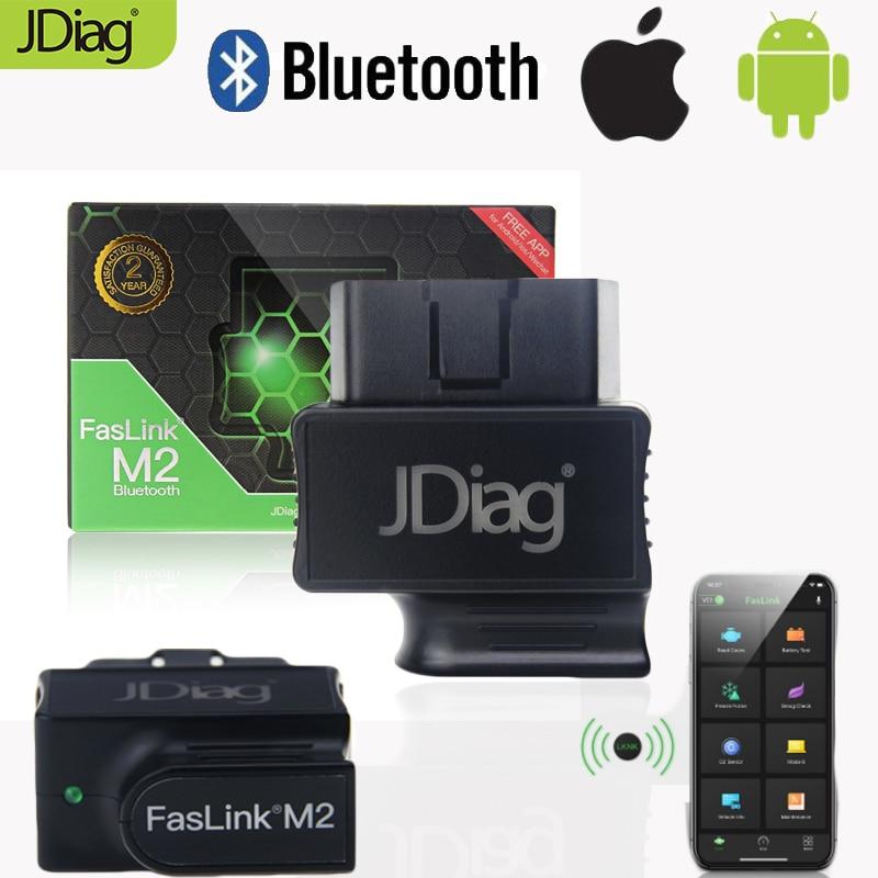 [해외]JDiag Auto Diagnostic Tool FasLink M2 Car OBD2 ScannerBluetooth Code ReaderISO/안드로이드 APP Free Replace Easydiag 3.0/JDiag Auto Diagnostic Tool FasL
